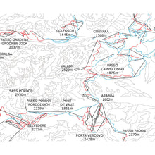 Dolomiti Superski Piste Map Wall Print Dolomites | Backcountry Books