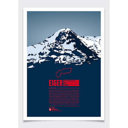 Eiger Wall Print Marmota Maps | Backcountry Books