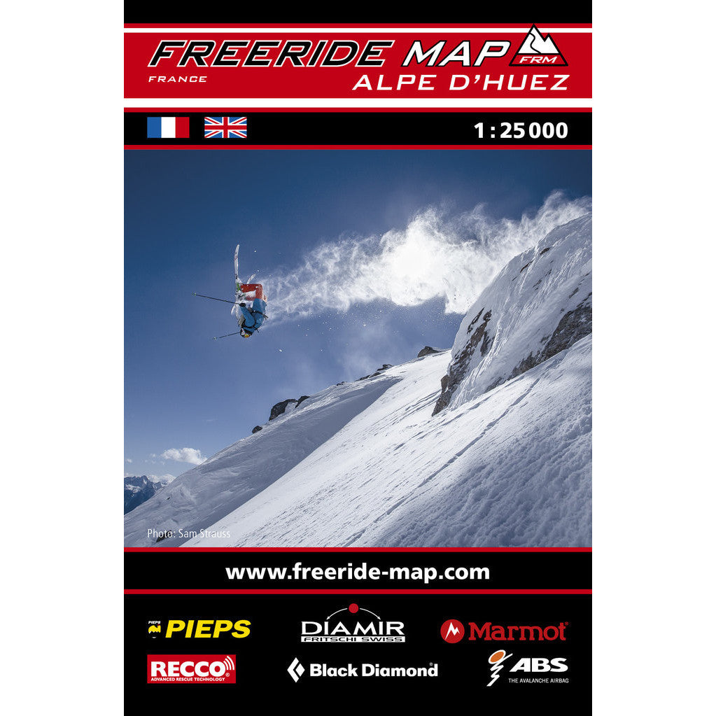 Freeride Map Alpe d'Huez Backcountry Books