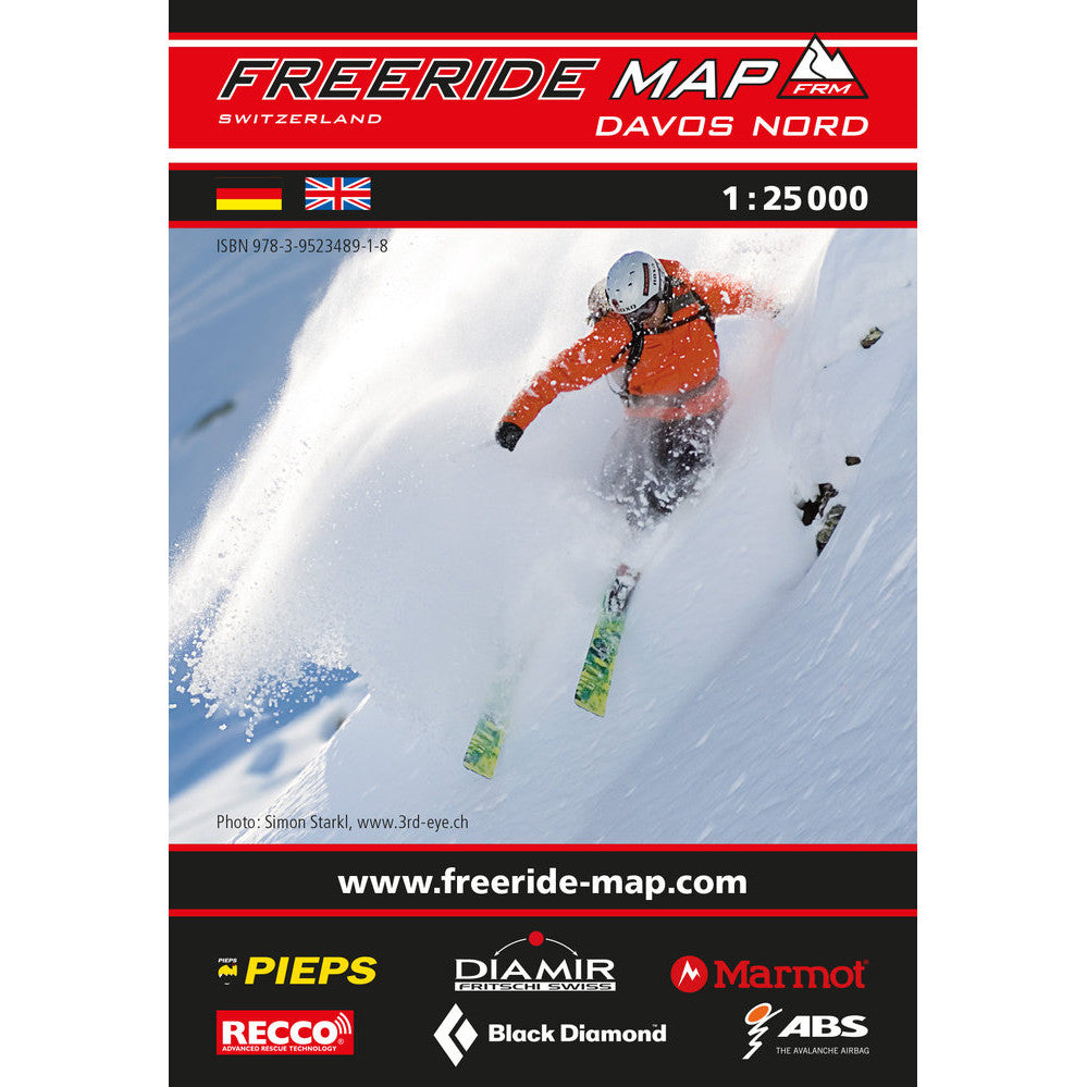 Freeride Map Davos North | Backcountry Books
