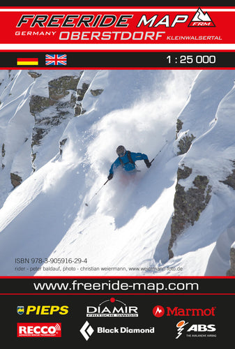 Freeride Map Oberstdorf / Kleinwalsertal | Backcountry Books