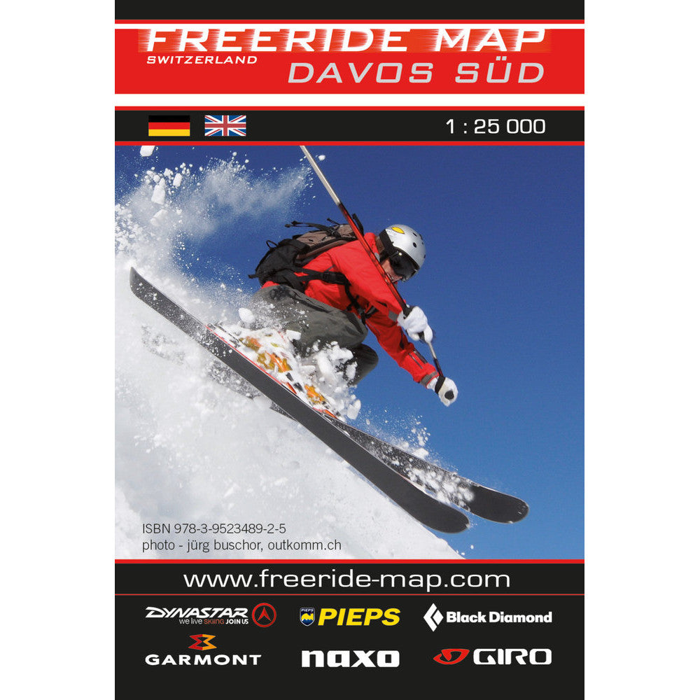 Freeride Map Davos South | Backcountry Books
