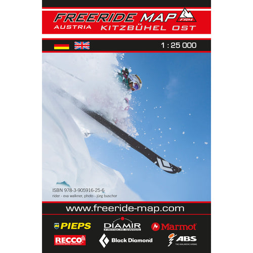 Freeride Map Kitzbuhel East | Backcountry Books