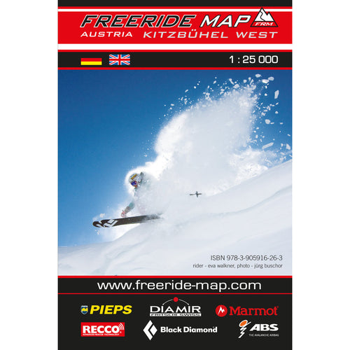 Freeride Map Kitzbuhel West | Backcountry Books