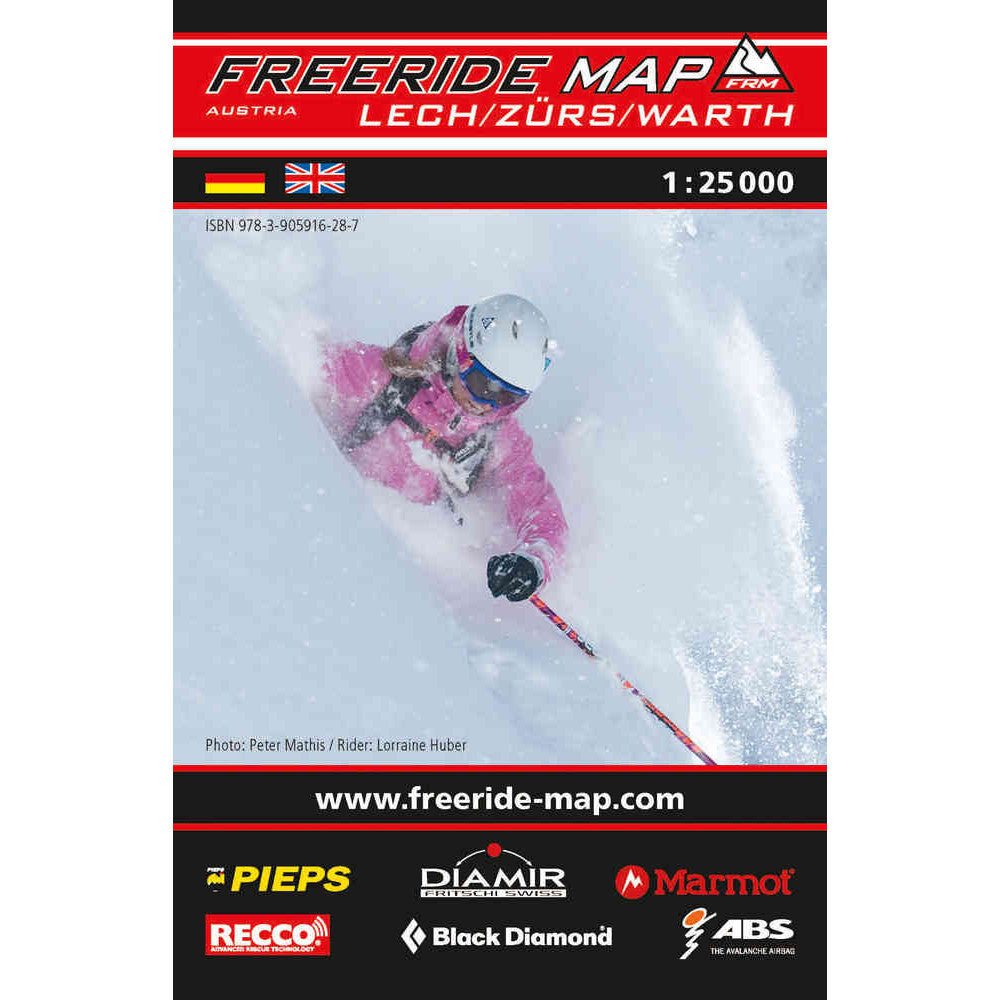 Freeride Map Lech Zurs Warth