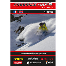 Freeride Map Les Arcs Backcountry Books