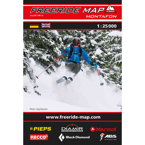 Freeride Map Montafon Backcountry Books