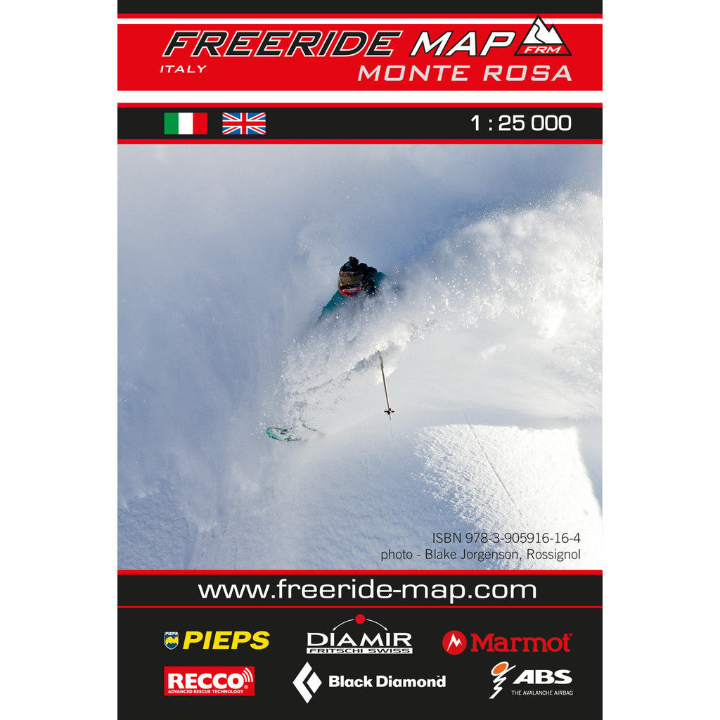 Freeride Map Monte Rosa