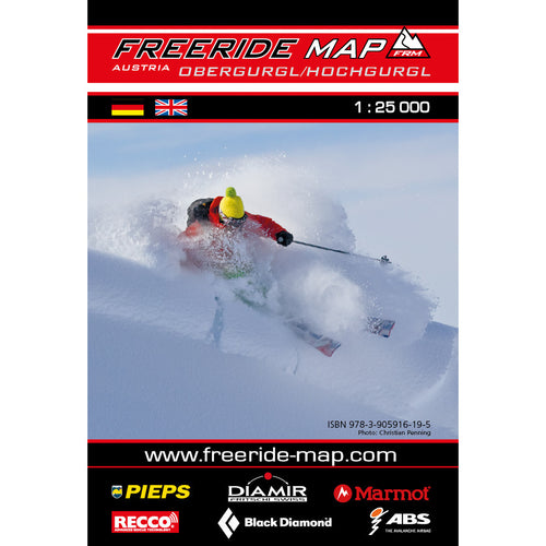 Freeride Map Obergurgl / Hochgurgl | Backcountry Books