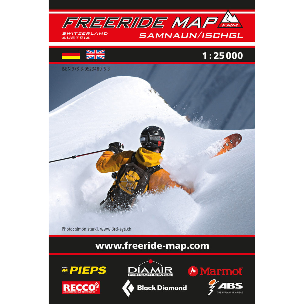 Freeride Map Samnaun / Ischgl | Backcountry Books