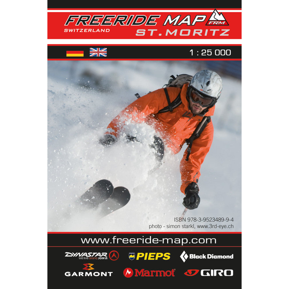 Freeride Map St Moritz | Backcountry Books