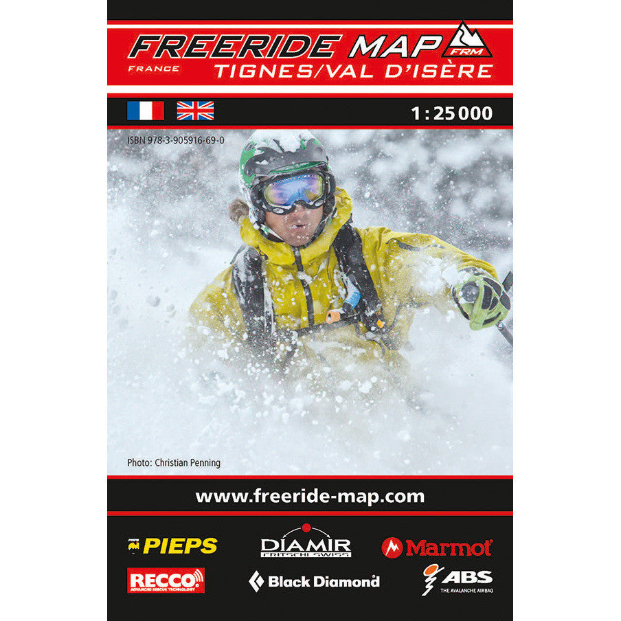 Freeride Map Tignes Val d'Isere
