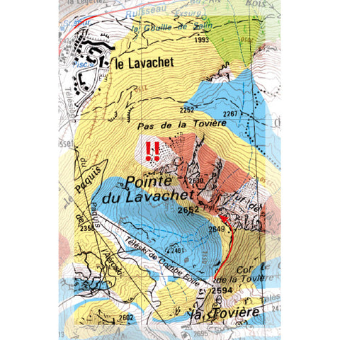 Freeride Map Tignes Val dIsere Backcountry Books
