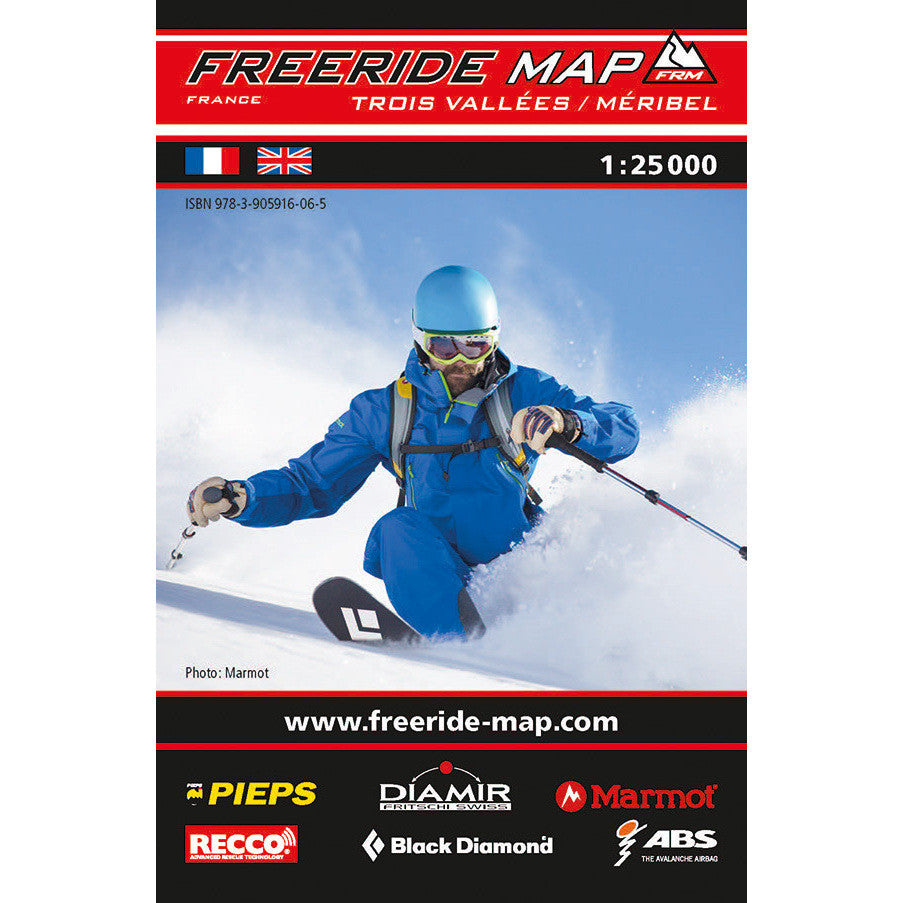 Freeride Map Meribel Trois Vallees
