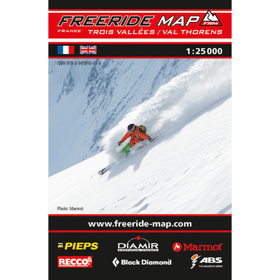 Freeride Map Trois Vallees Val Thorens