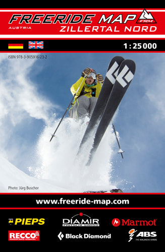 Freeride Map Zillertal Nord | Backcountry Books