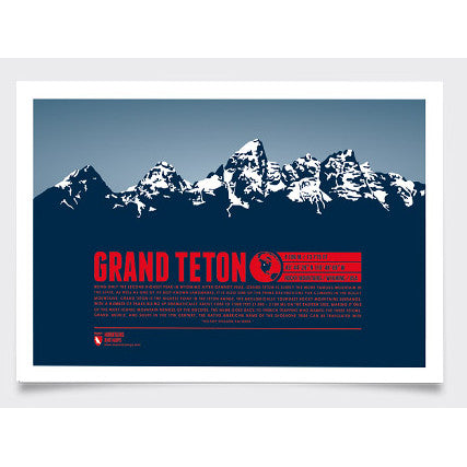 Grand Teton Wall Print Marmota Maps | Backcountry Books