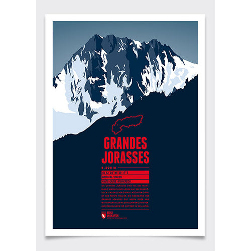 Grandes Jorasses Wall Print | Marmota Maps | Backcountry Books