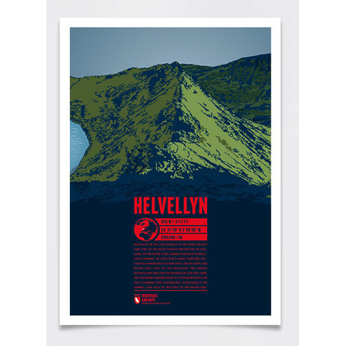 Helvellyn Wall Print Poster | Marmota Maps | Backcountry Books