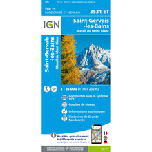 Chamonix Map IGN St Gervais 3531 ET | Backcountry Books