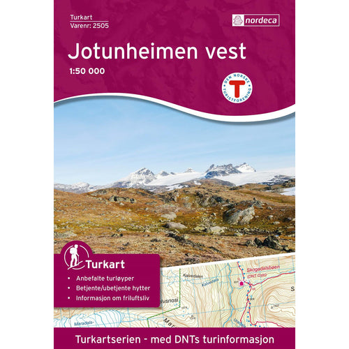 Jotunheimen Map Nordeca Turkart Jotunheimen Vest | Backcountry Books