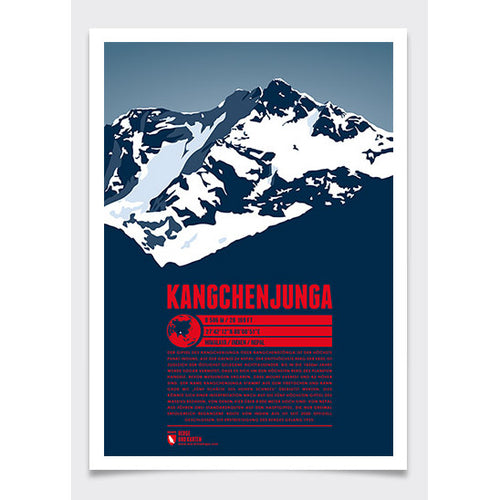 Kangchenjunga Wall Print | Marmota Maps | Backcountry Books