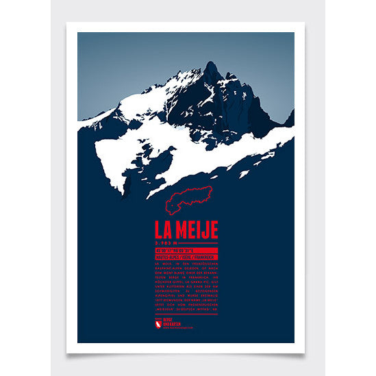 La Meije Wall Print Marmota Maps | Backcountry Books