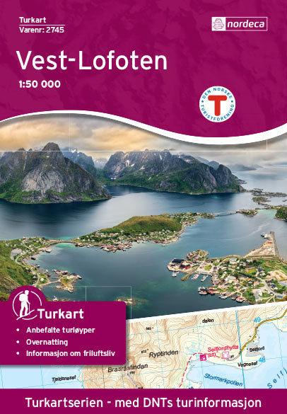 Lofoten Map | Nordeca Turkart Vest-Lofoten 1:50 000 | Backcountry Books