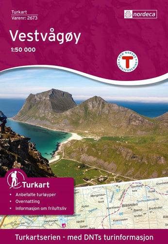 Lofoten Map | Nordeca Turkart Vestvågøy 1:50 000 | Backcountry Books