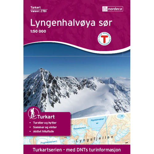 Lyngen Map Nordeca Lyngenhalvøya Sør | Backcountry Books