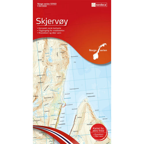Lyngen Map Nordeca Skjervoy 1:50,00. Backcountry Books.