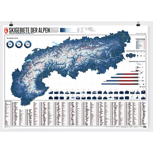 Marmota Maps Alps Ski Resorts Wall Map | Backcountry Books