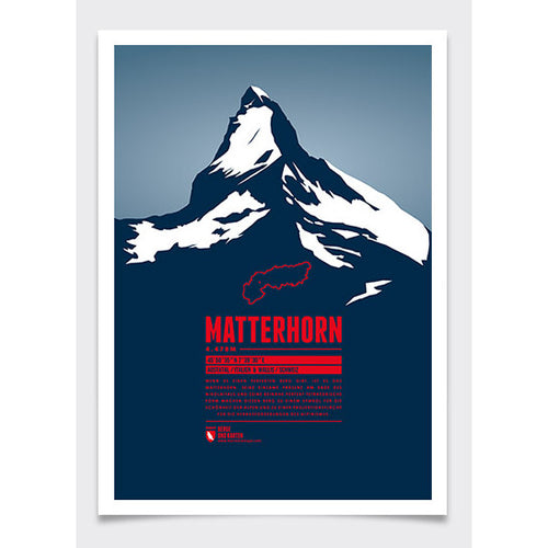 Matterhorn Wall Print | Marmota Maps | Backcountry Books