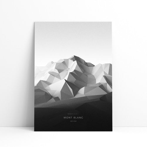 Mont Blanc Wall Print | Mont Minimal | Backcountry Books