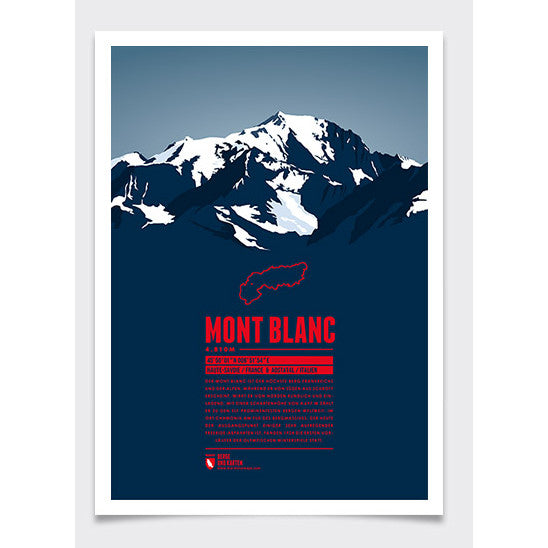 Mont Blanc Wall Print | Marmota Maps | Backcountry Books
