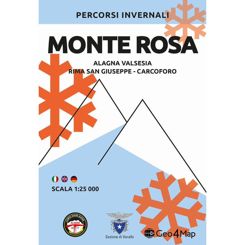 Monte Rosa Ski Touring Map Geo4map | Backcountry Books