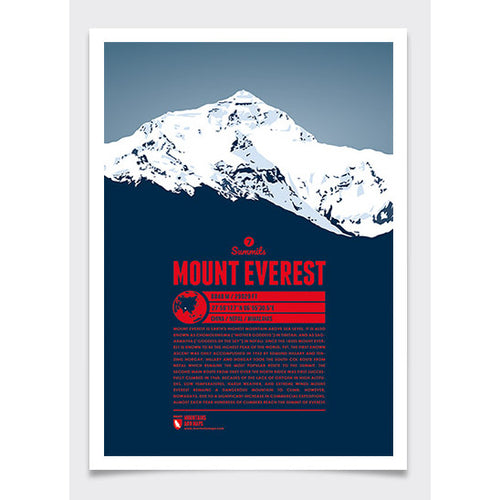 Everest Wall Print Marmota Maps | Backcountry Books
