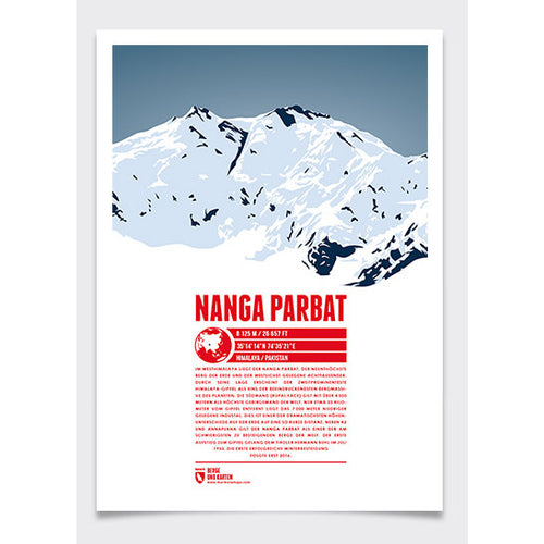 Nanga Parbat Wall Print Marmota Maps | Backcountry Books