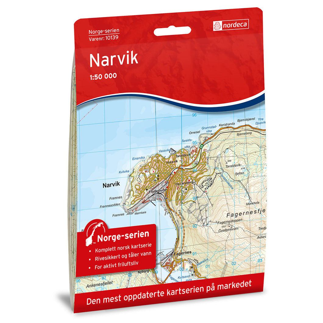 Narvik Map | Nordeca Narvik Map | Backcountry Books