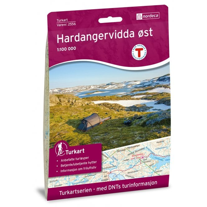 Nordeca Turkart Hardangervidda Ost East Map | Backcountry Books