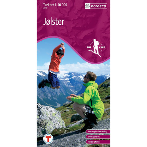 Nordeca Turkart Jølster Map Jolster Map | Backcountry Books