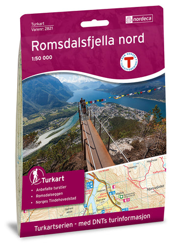 Romsdalen Map | Nordeca Turkart Romsdalsfjella Nord North Map | Backcountry Books