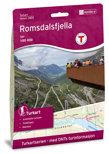 Romsdalen Map | Nordeca Turkart Romsdalsfjella Sor South Map | Backcountry Books