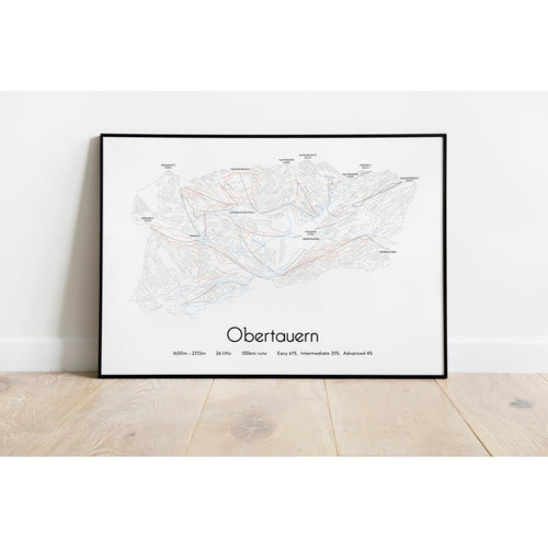 Obertauern Ski Piste Map Poster | Backcountry Books
