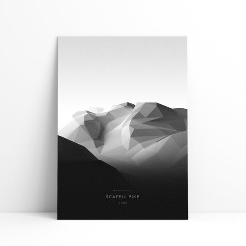 Scafell Pike Wall Print | Mont Minimal | Backcountry Books