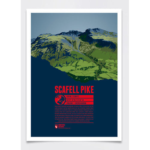 Scafell Pike Wall Print Poster | Marmota Maps | Backcountry Books