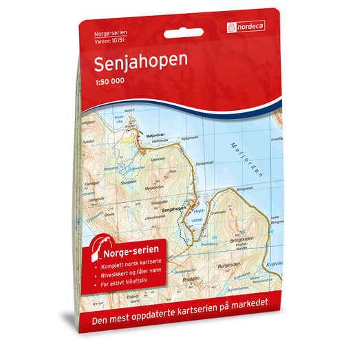 Senja Map Nordeca Senjahopen | Backcountry Books