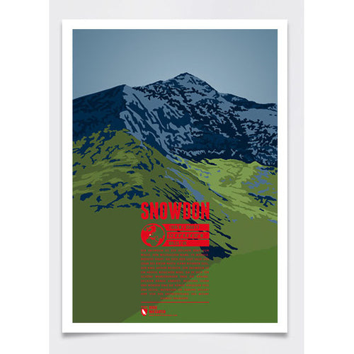 Snowdon Wall Print Poster | Marmota Maps | Backcountry Books