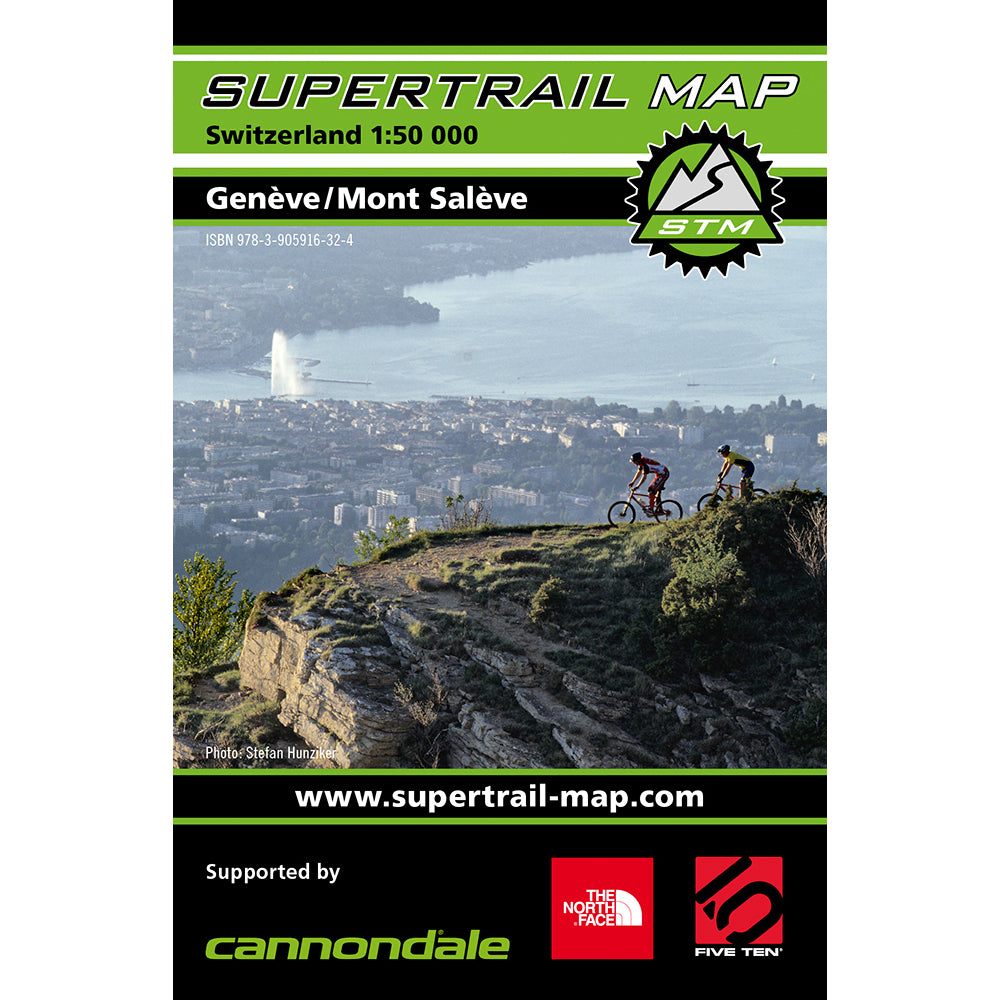 Supertrail Map Genève / Mont Salève Geneva | Backcountry Books