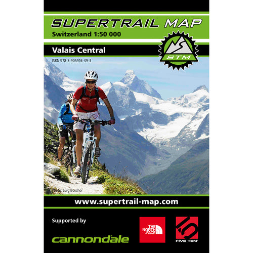 Supertrail Map Valais Central | Backcountry Books